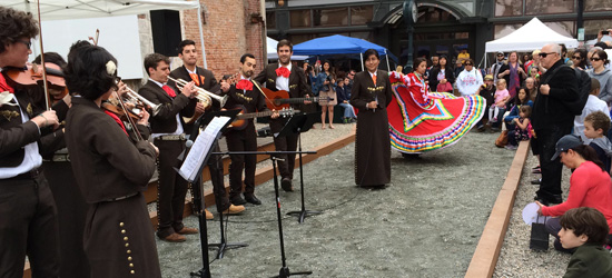 The Brown Mariachi band keeps the beat at the Rock and Roll Yardsale
